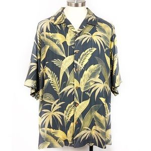 Tommy Bahama 100% Silk Aloha Button Down Shirt XL